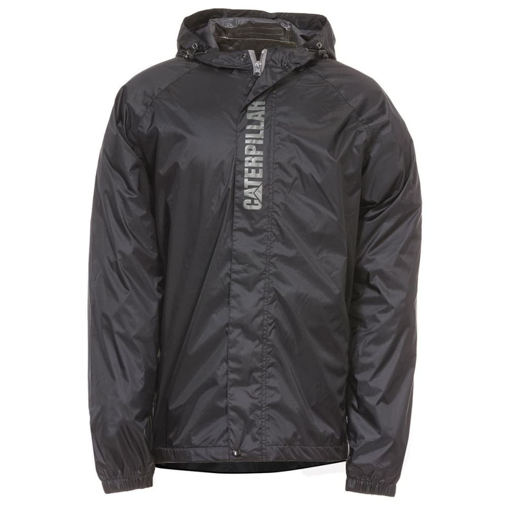 CATERPILLAR Men's Typhoon Packable Rain Jacket - Black, M
