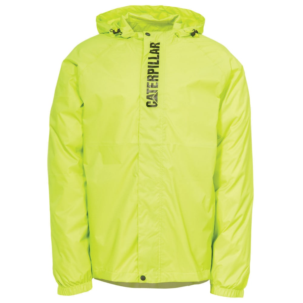 CATERPILLAR Men's Typhoon Packable Rain Jacket - 407 HI-VIS EN YELLOW