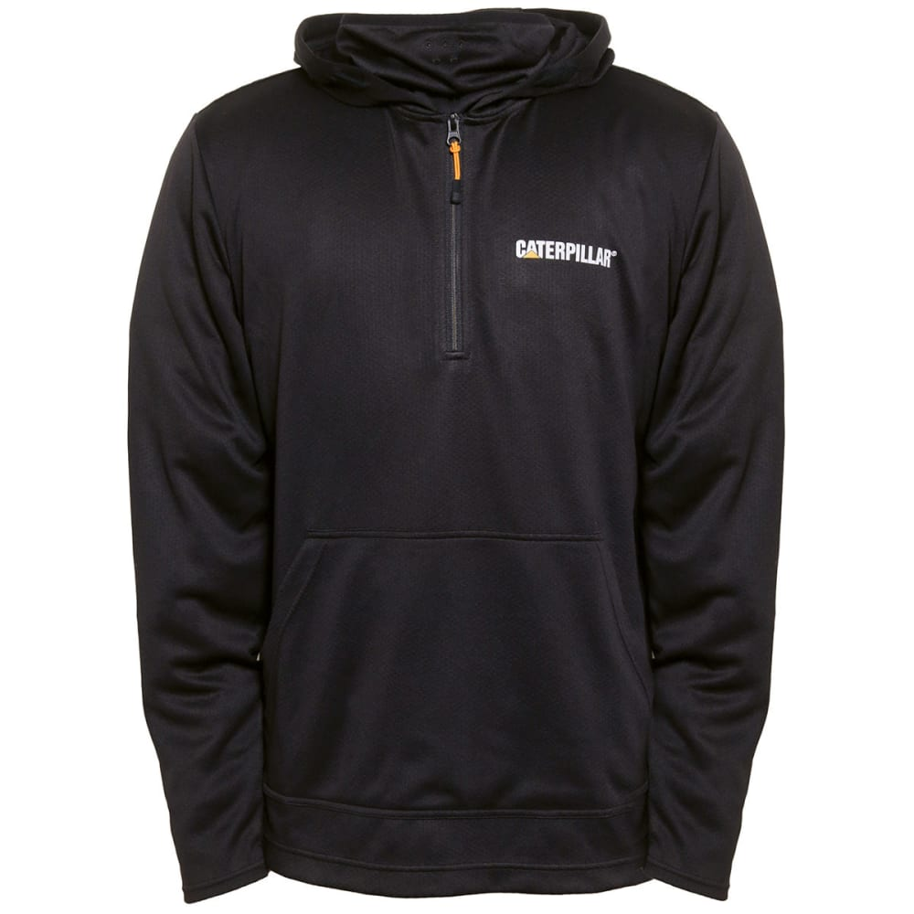 CATERPILLAR Men's Guardian ¼-Zip Cowl Neck Hoodie - 016 BLACK