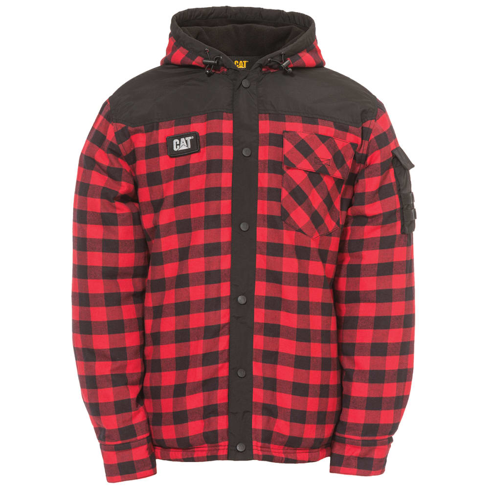 CATERPILLAR Men's Sequoia Shirt Jacket - 10672 RED BUFFALOW P