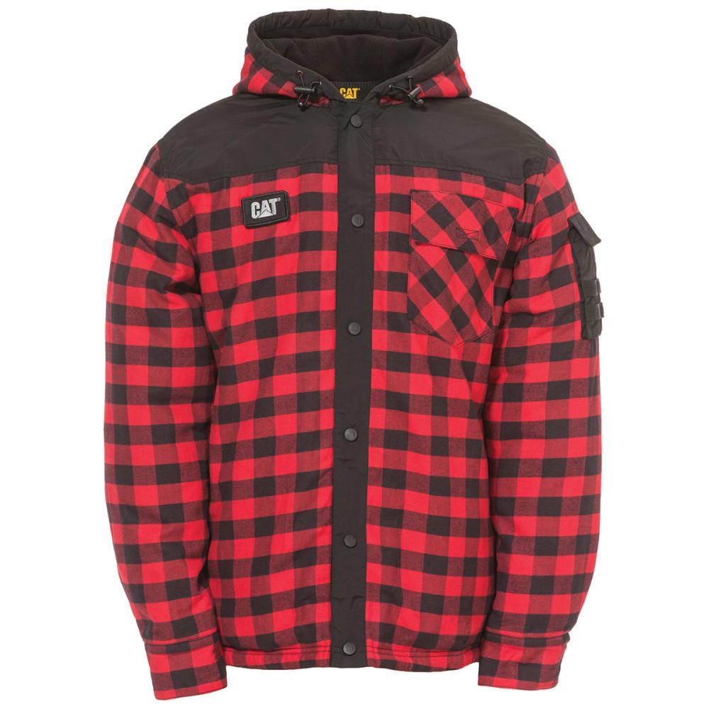 CATERPILLAR Men's Sequoia Shirt Jacket - 10672 RED BUFFALOW P