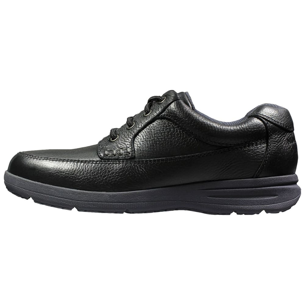 NUNN BUSH Men's Cam Moc Toe Oxford Shoes, Black, Wide - BLACK