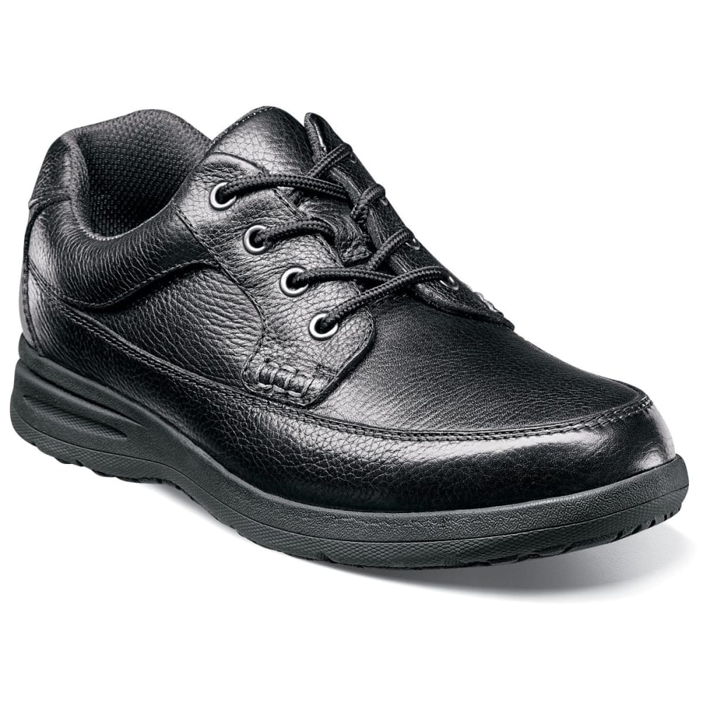 NUNN BUSH Men's Cam Moc Toe Oxford Shoes, Black, Wide - BLACK