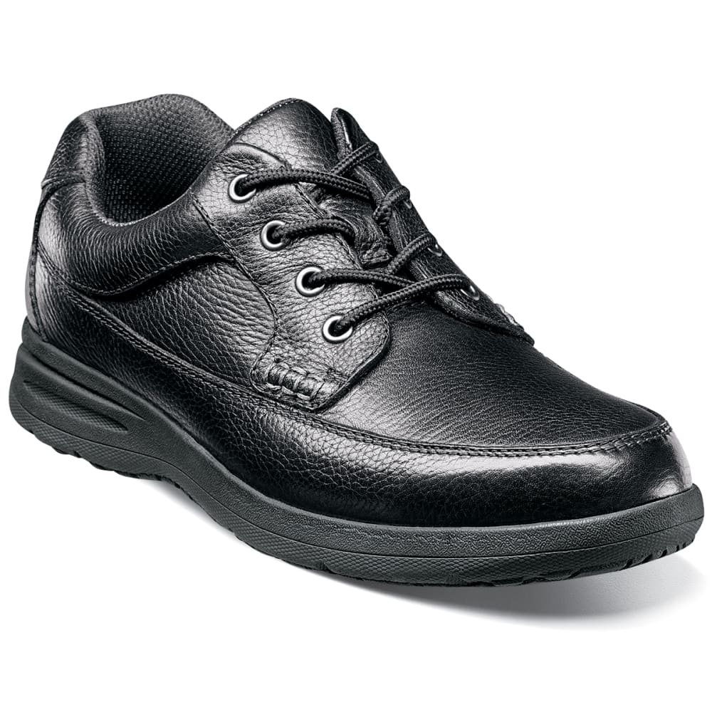 NUNN BUSH Men's Cam Moc Toe Oxford Shoes, Extra Wide - BLACK