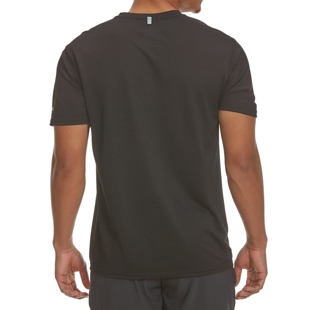 SPALDING Men's Short Sleeve Ombre Tech Tee - BLACK/GRAVEL