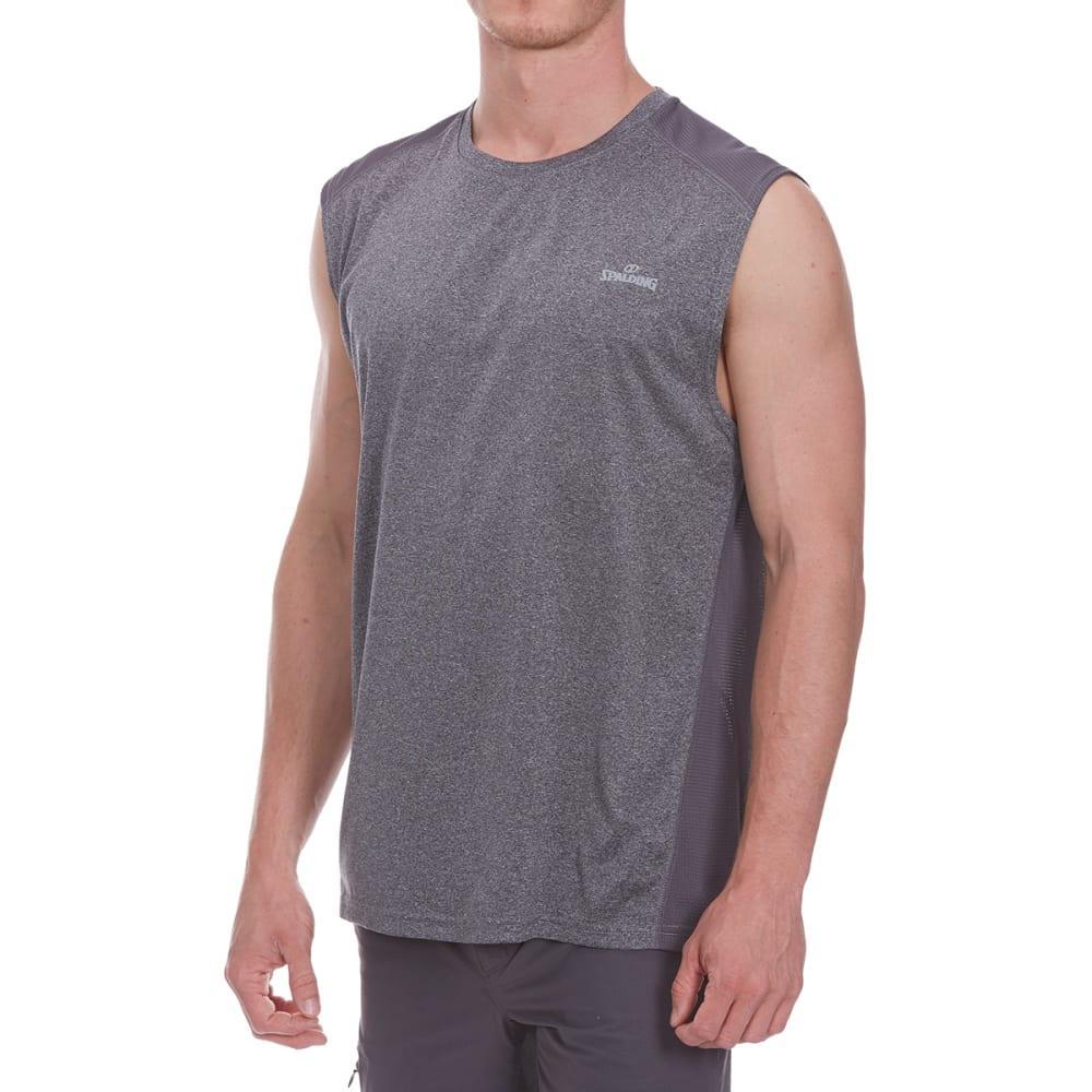 SPALDING Men's Double-Dye Sleeveless Muscle Tee - GREY HTR/GRAVEL