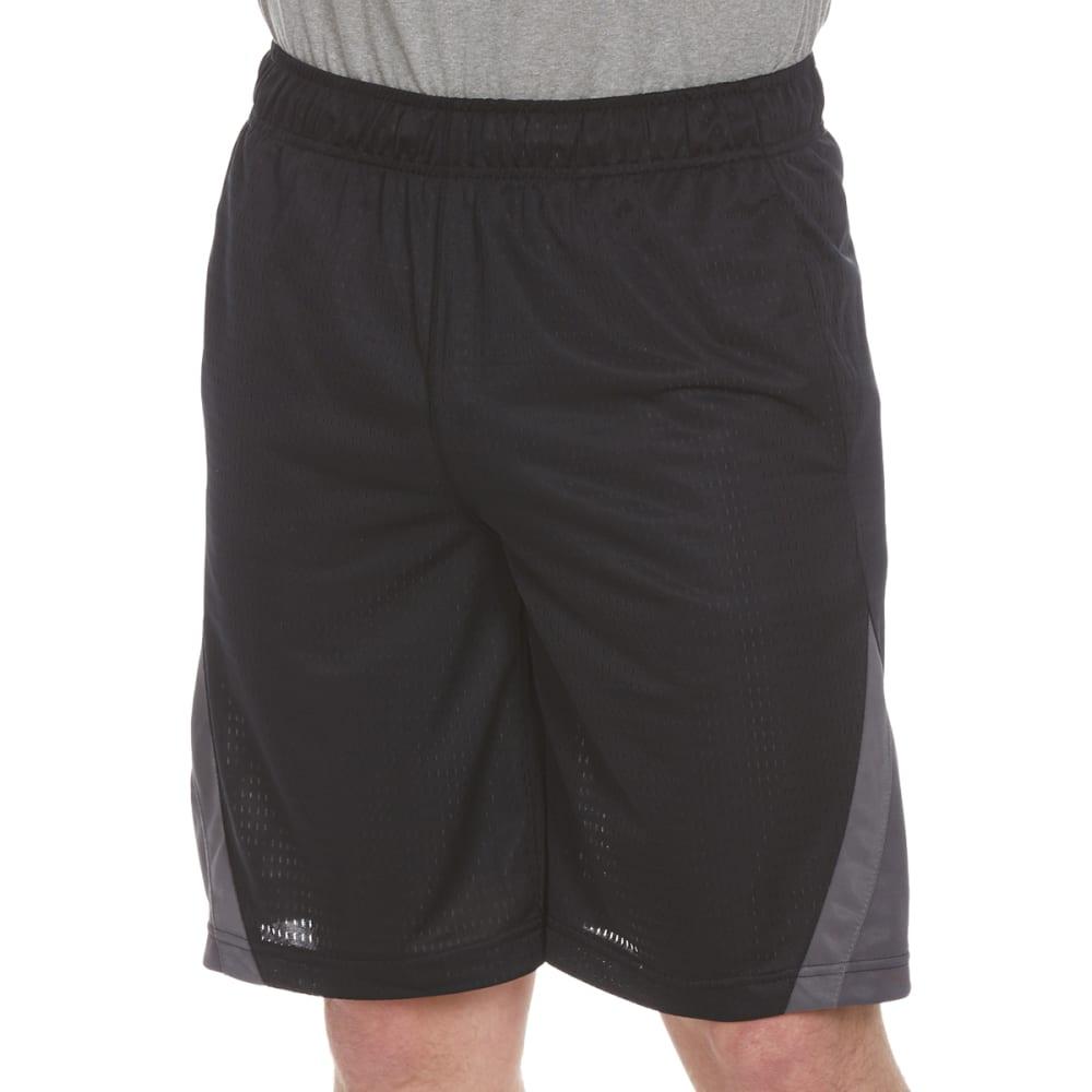 SPALDING Men's Dash Mesh Shorts - BLACK/GRAVEL/CONCRET