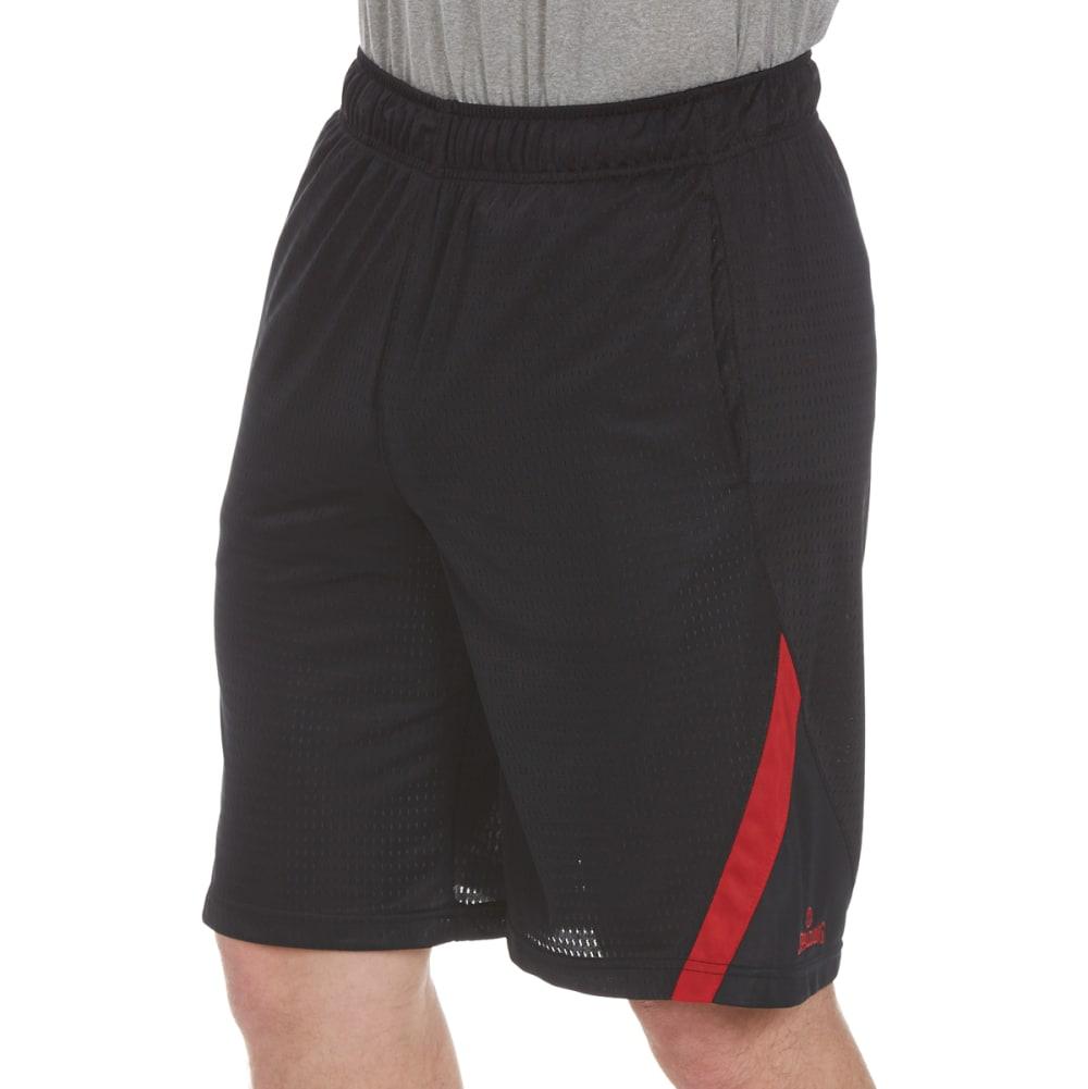 SPALDING Men's Dash Mesh Shorts - BLK/RED COAST