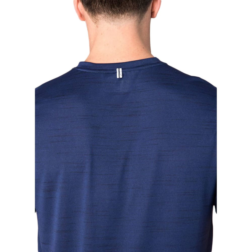RBX Men's Fitted Heather Poly Jersey V-Neck Short-Sleeve Tee - NAVY-B