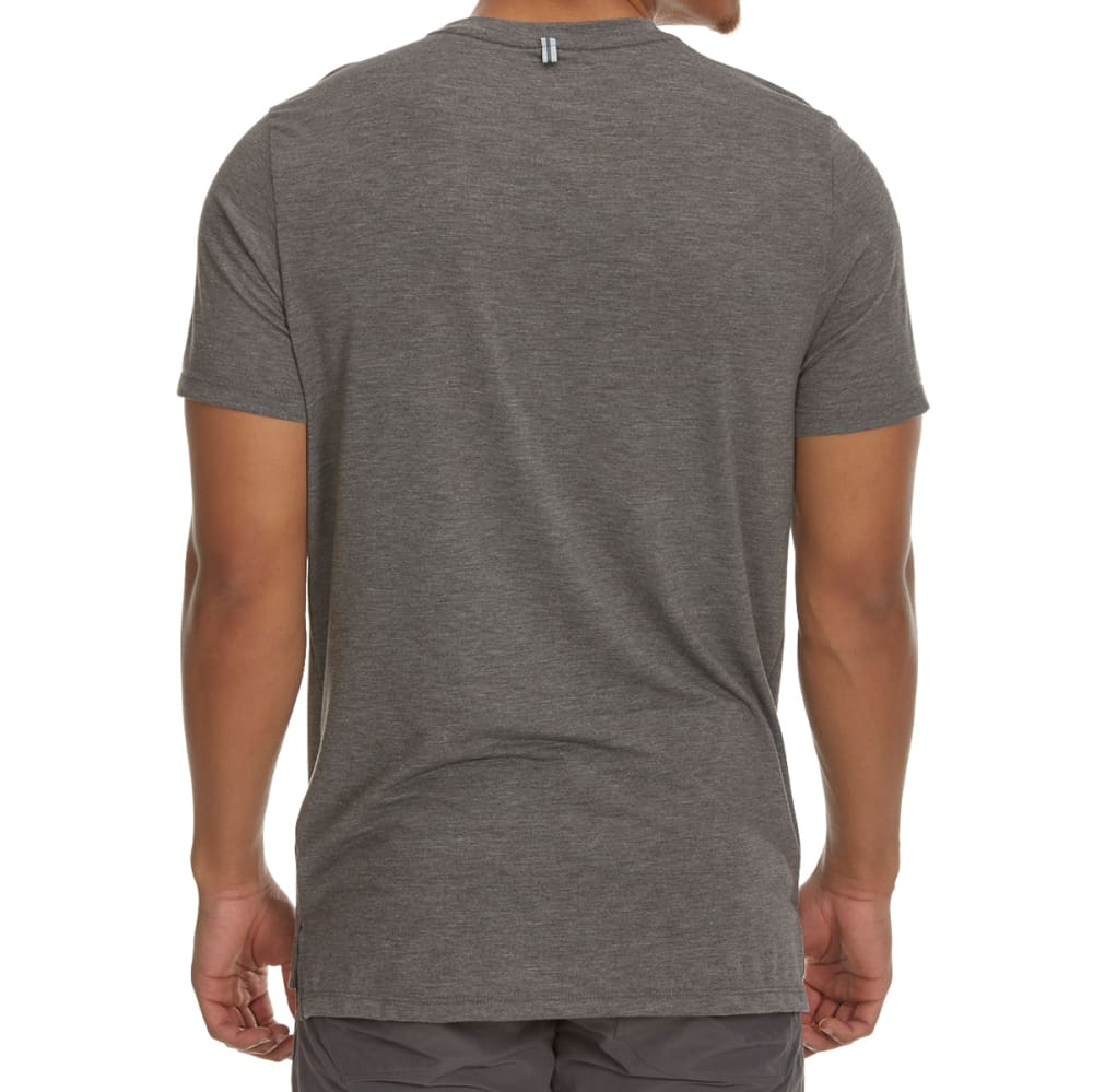 RBX Men's Tri-Blend Striated Short-Sleeve Tee with Bonded Pocket - CHARCOAL HTR-A