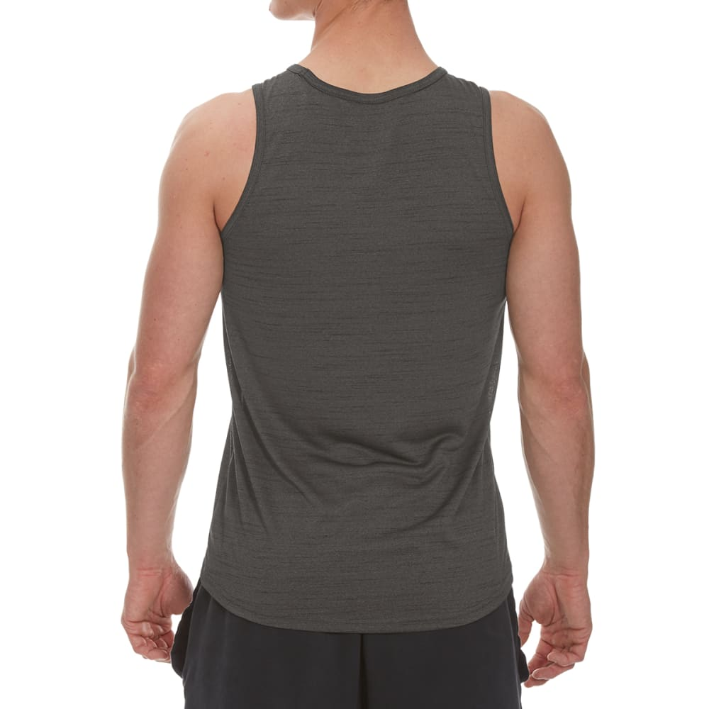 RBX Men's Poly Striated Tank Top - CHARCOALHTR-A