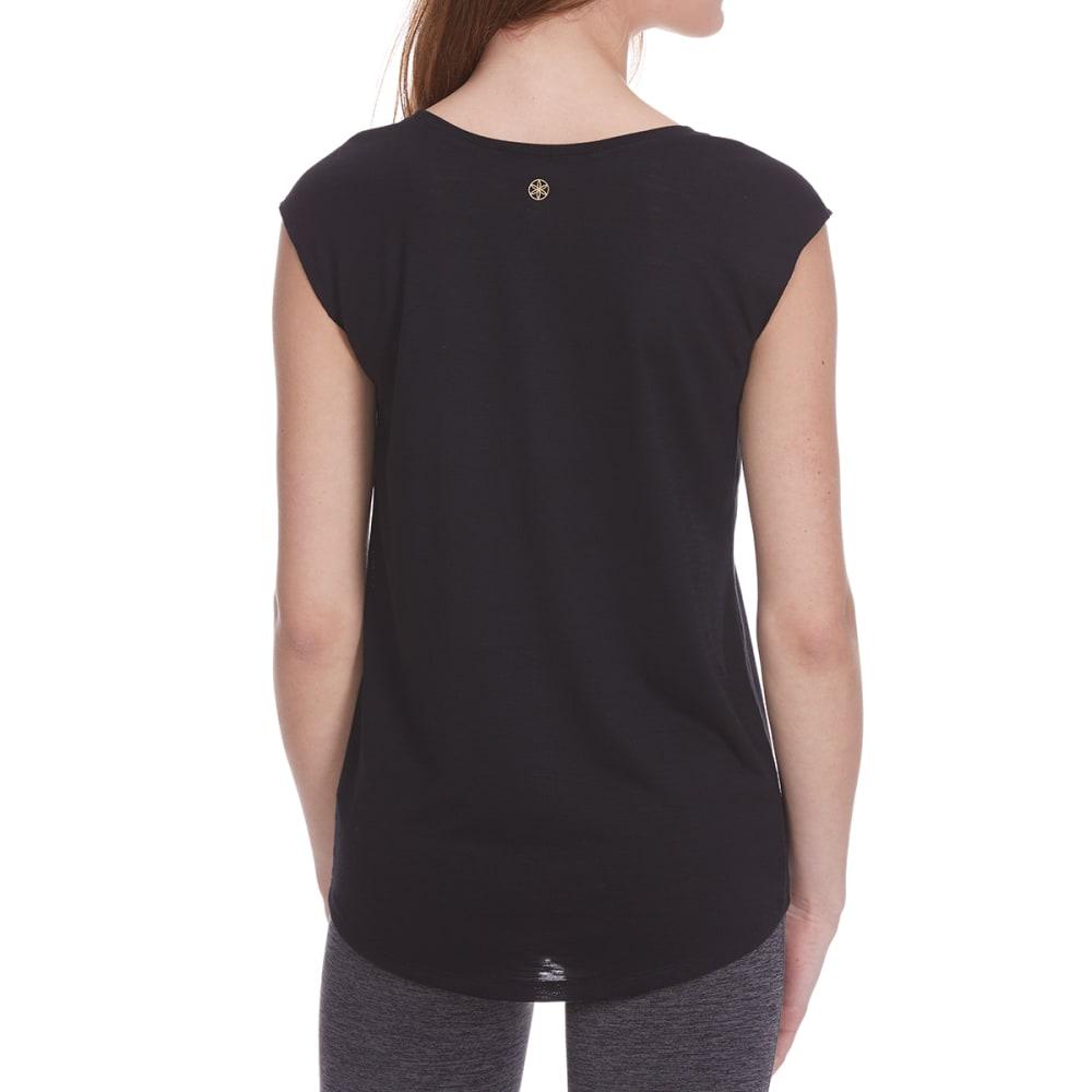 GAIAM Women's Dani Coffee Graphic Yoga Short-Sleeve Tee - BLACK-S009