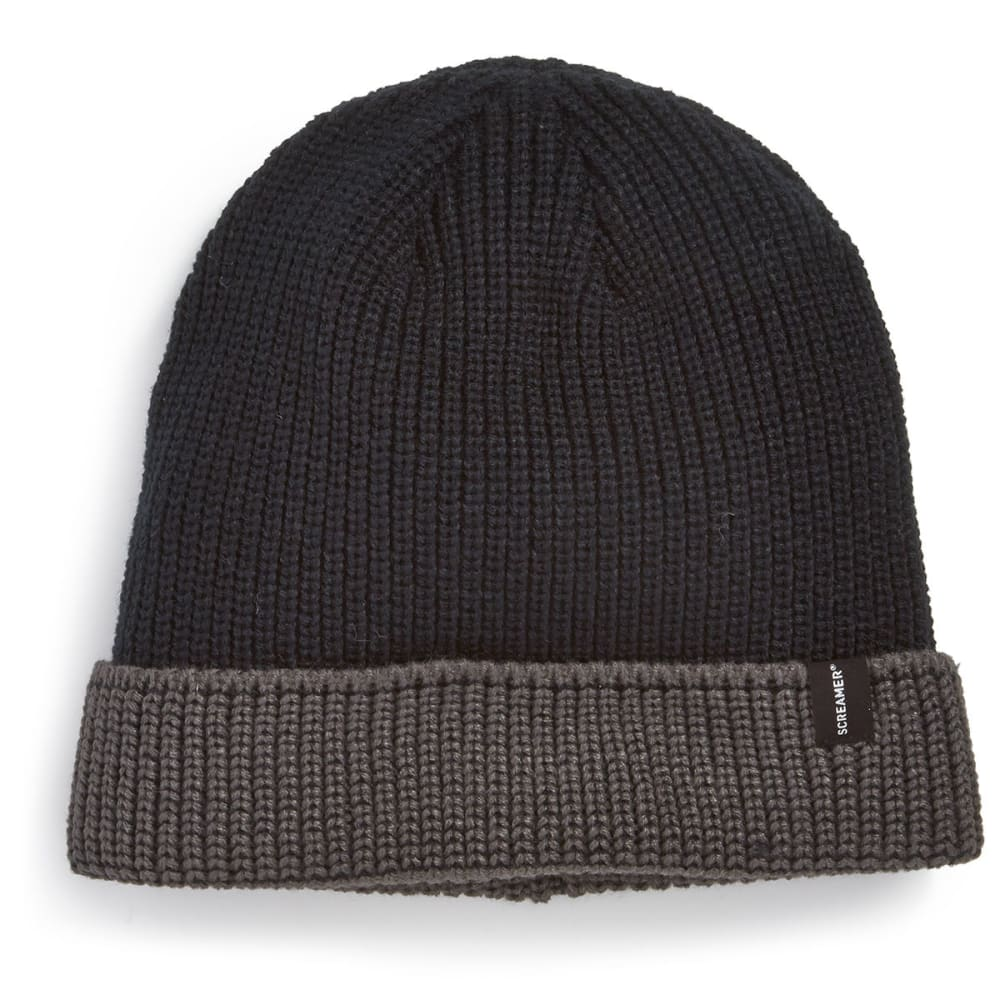 SCREAMER Mark Beanie - BLACK/CHARCOAL-247