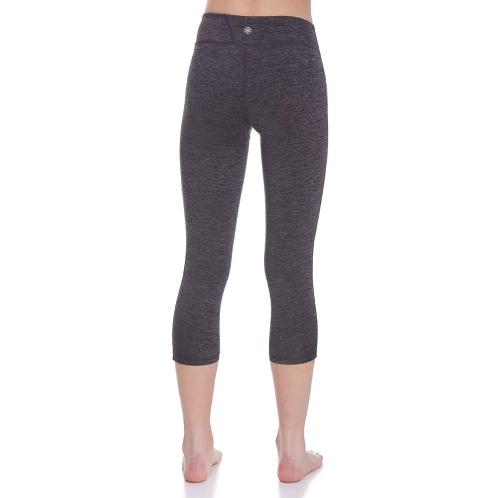 GAIAM Women's Om Yoga Capri Leggings - CHAR HTR-R157