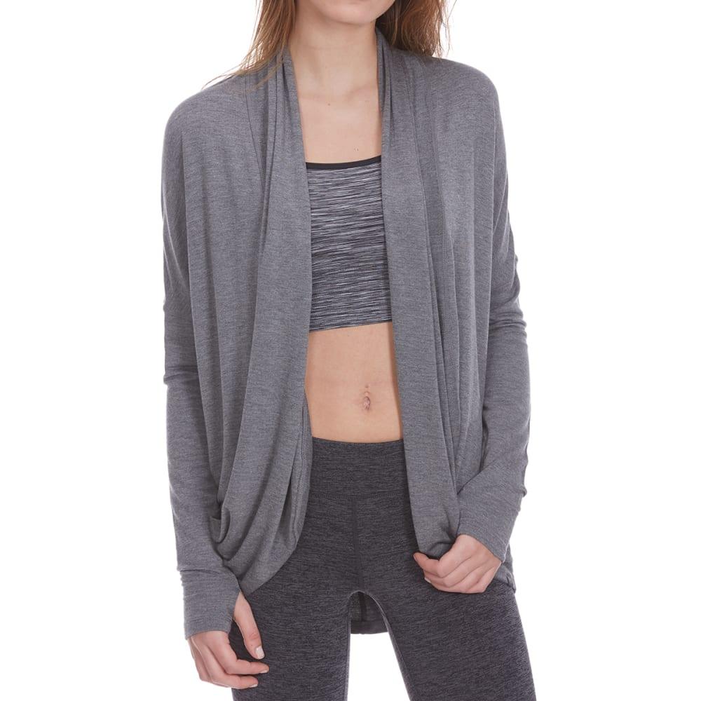 GAIAM Women's Grace Yoga Wrap Cardigan - FLINT GRY HTR-R172