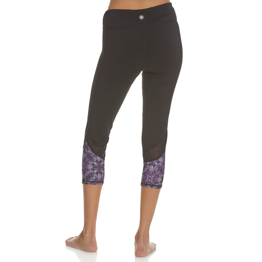 GAIAM Women's Om Mesh Capri Leggings - BLACK-S009