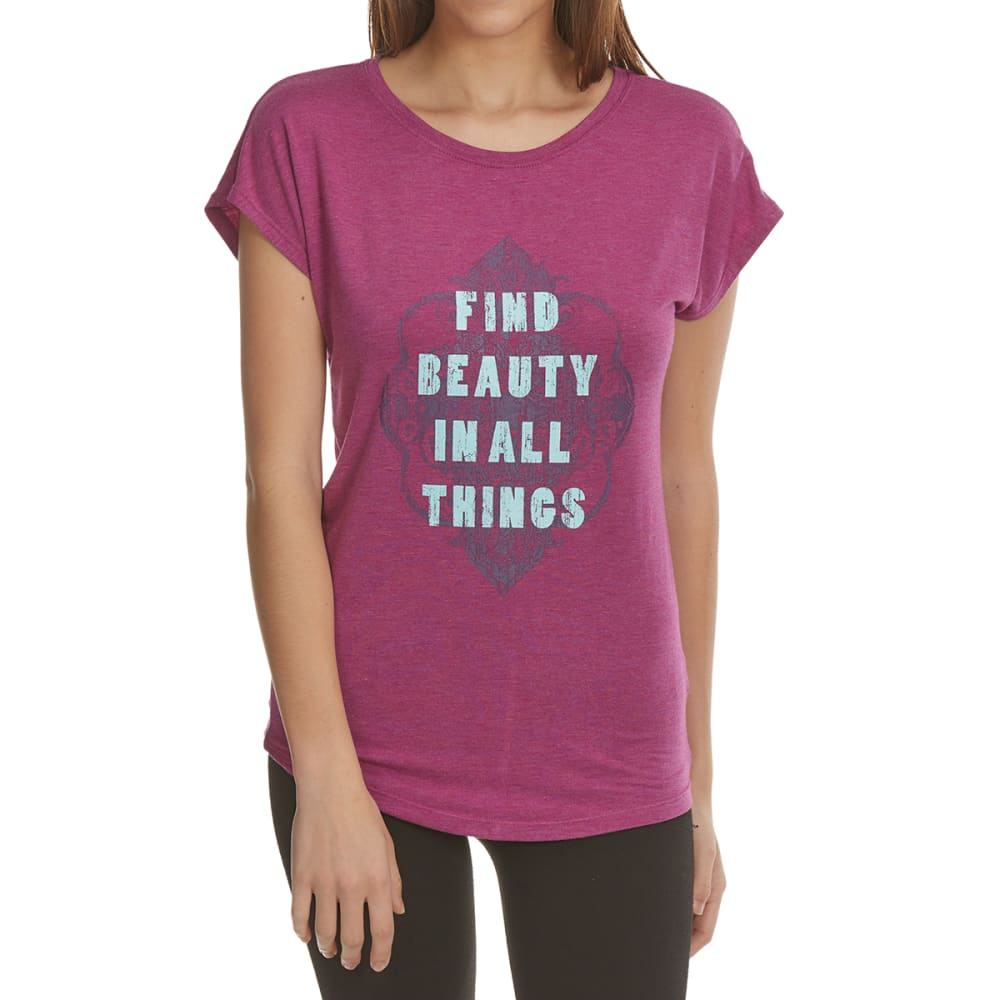 GAIAM Women's Find Beauty Intention Tee - STRIKING PURPLE-R021