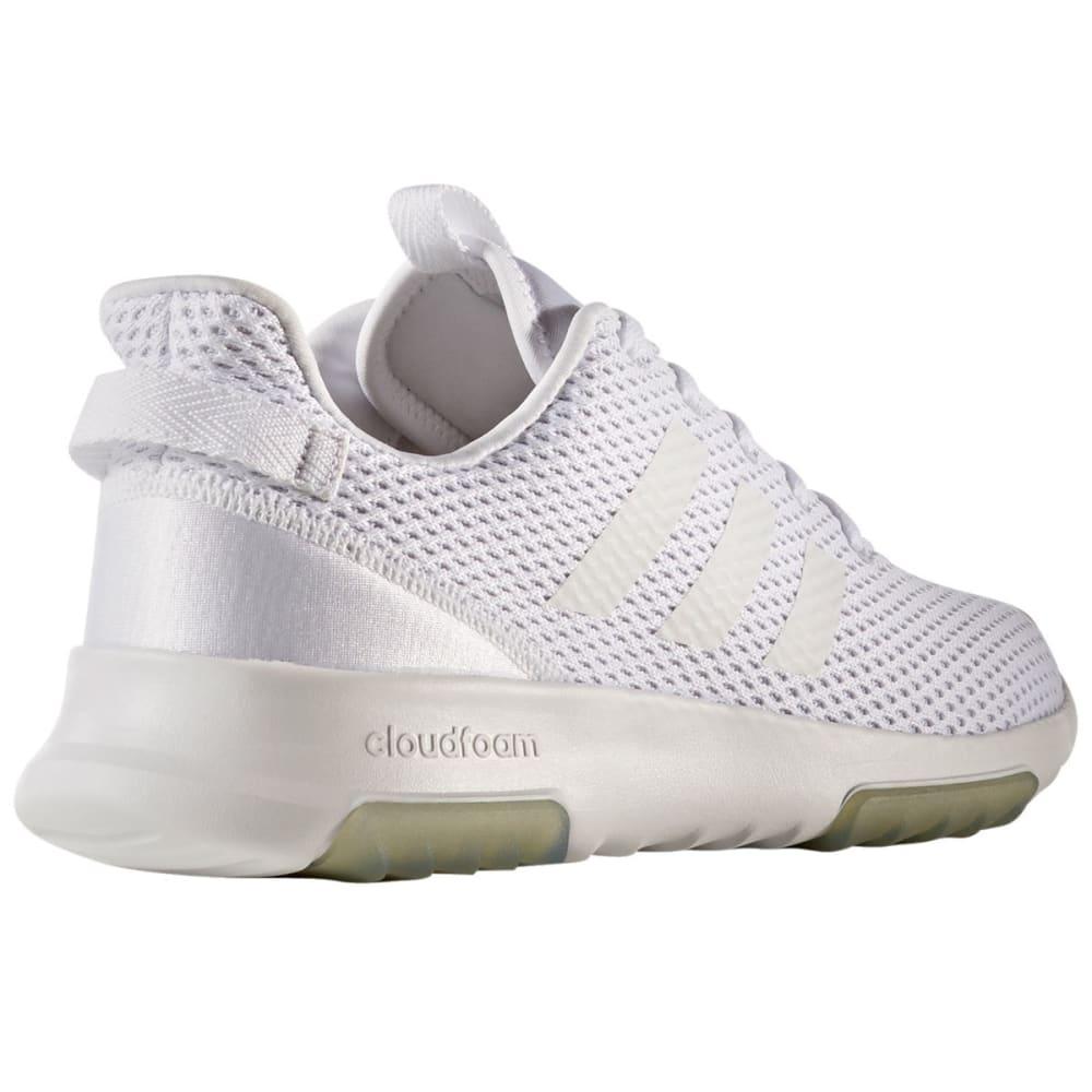 ADIDAS Women's Neo Cloudfoam Racer TR Running Shoes, White/Grey