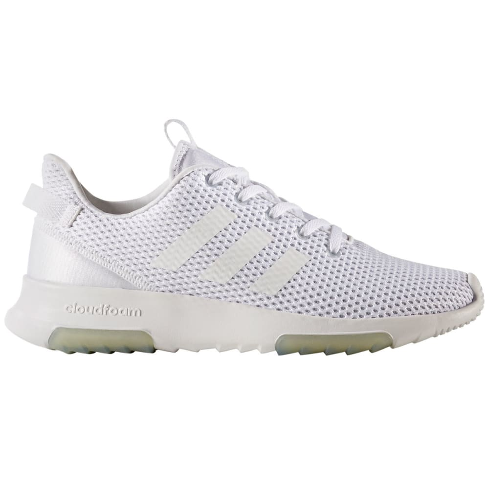 Adidas Women's Neo Cloudfoam Racer Tr Running Shoes, White/grey