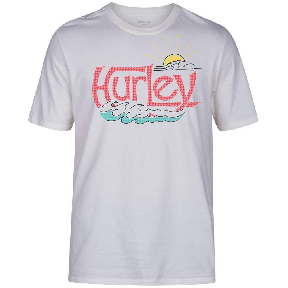 Hurley Guys' Sunny Dayz Short-Sleeve Tee - White, L