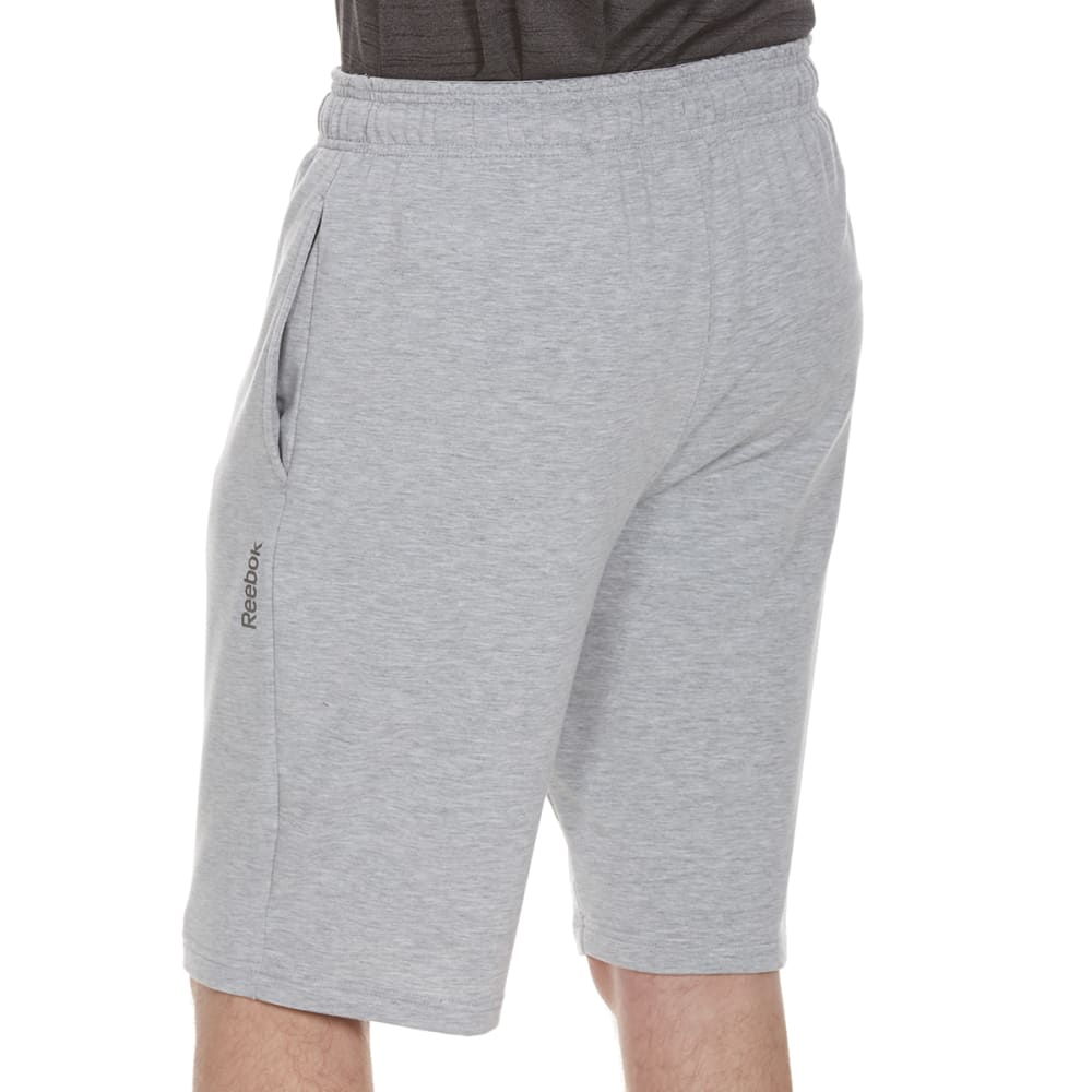 REEBOK Men's 11 in. Pryor Fleece Tapered Shorts - GREY HTR-R144