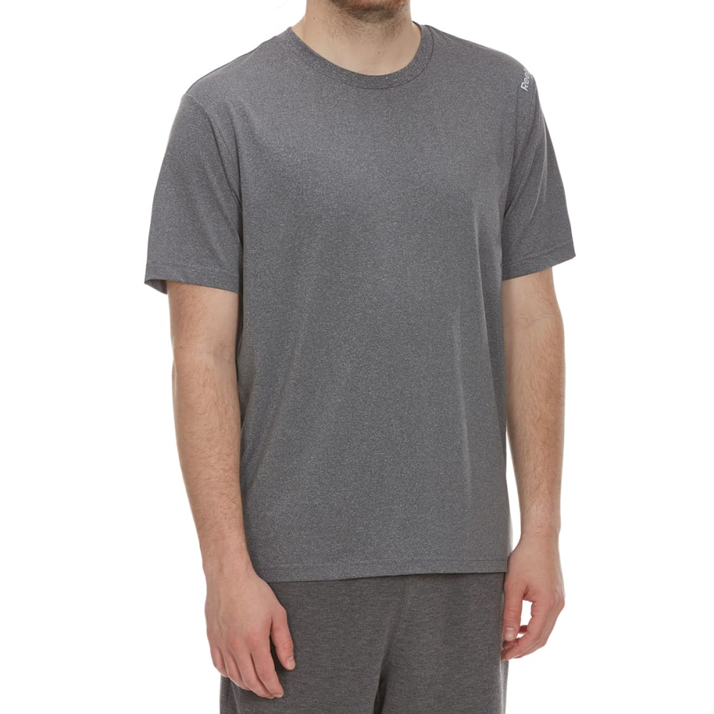 REEBOK Men's Short Sleeve Super Sonic 2.0 - CHARCOAL HTR-R157
