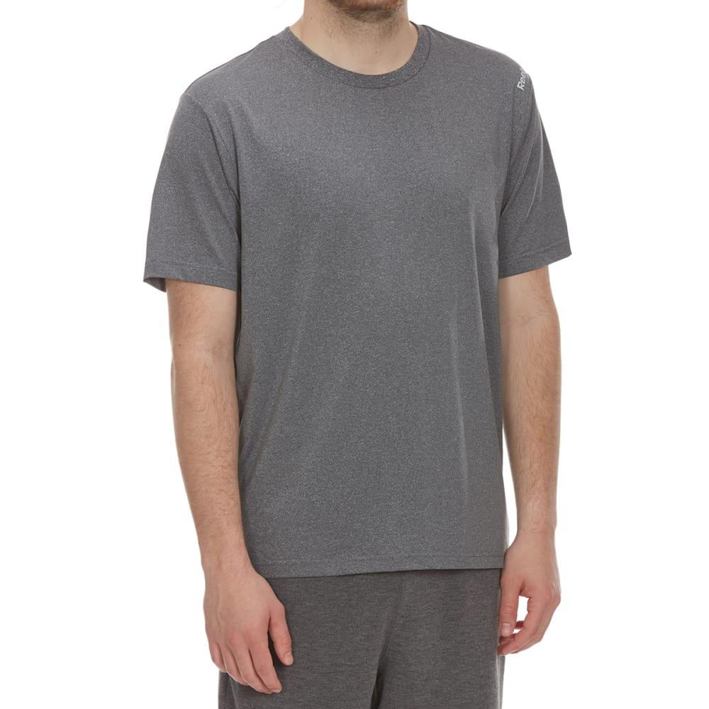 REEBOK Men's Short Sleeve Super Sonic 2.0 - CHARCOAL HTR-R157