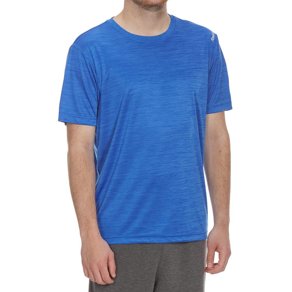 REEBOK Men's Neptune Short-Sleeve Tee - VITAL BLUE HTR-R476