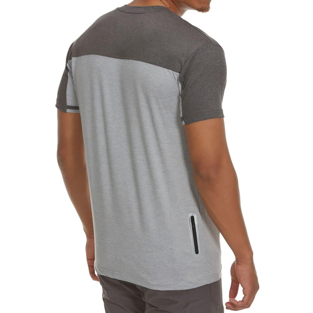 REEBOK Men's Benoit Short-Sleeve Tee with Hidden Pocket - GREY HTR-R144
