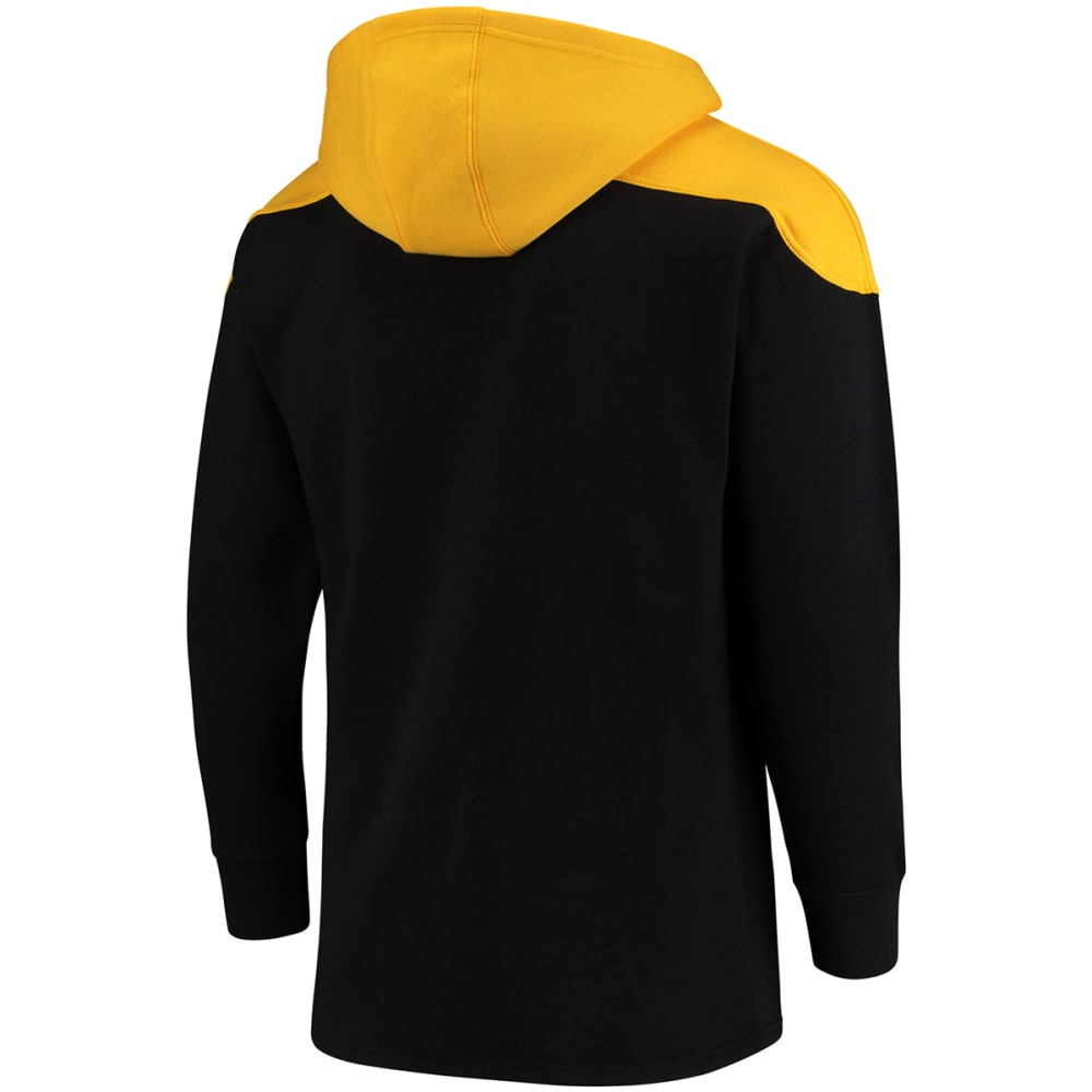 BOSTON BRUINS Men's True Classic Lace-Up Pocket Fleece Pullover Hoodie - BLACK