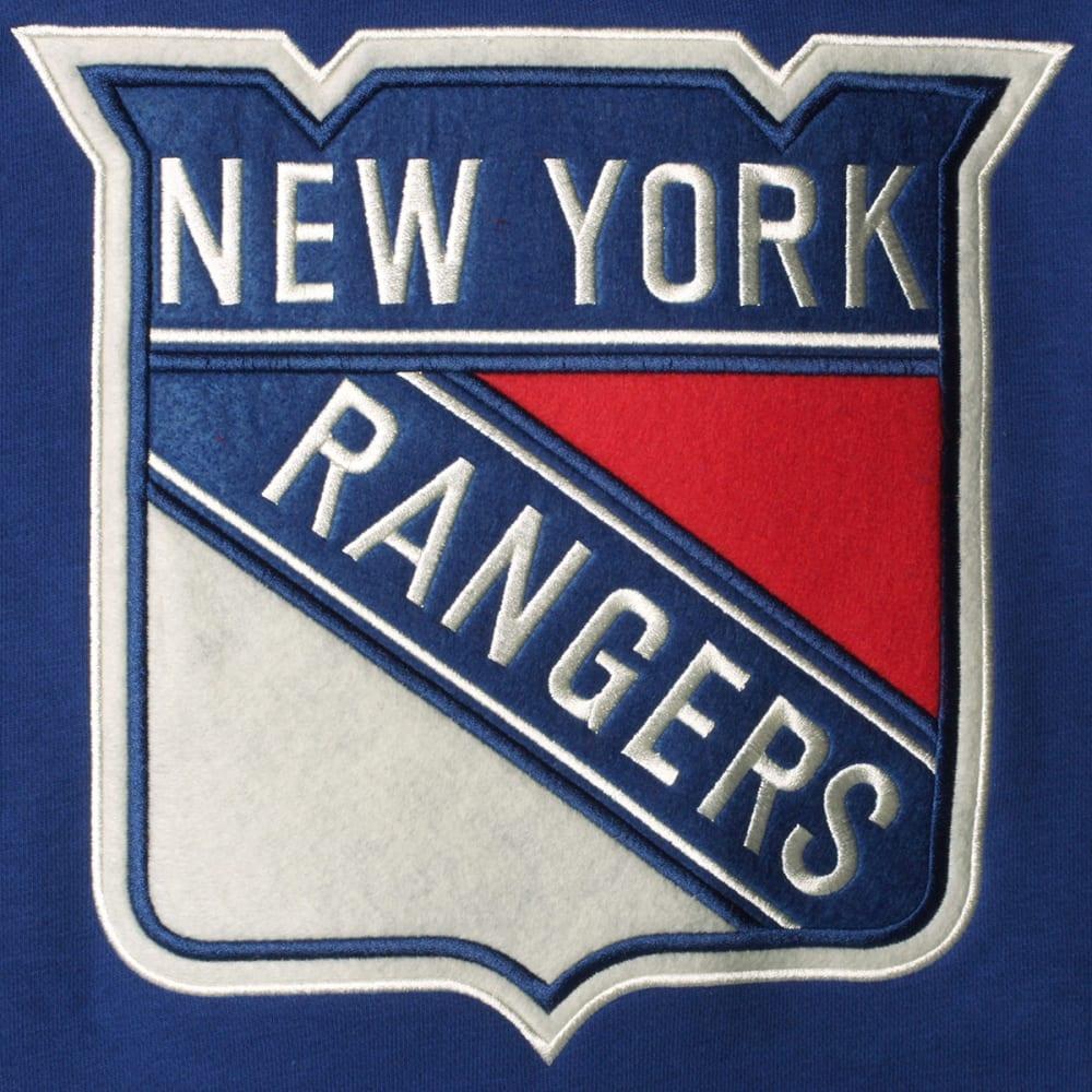 NEW YORK RANGERS Men's True Classic Lace-Up Pocket Fleece Pullover Hoodie - ROYAL BLUE