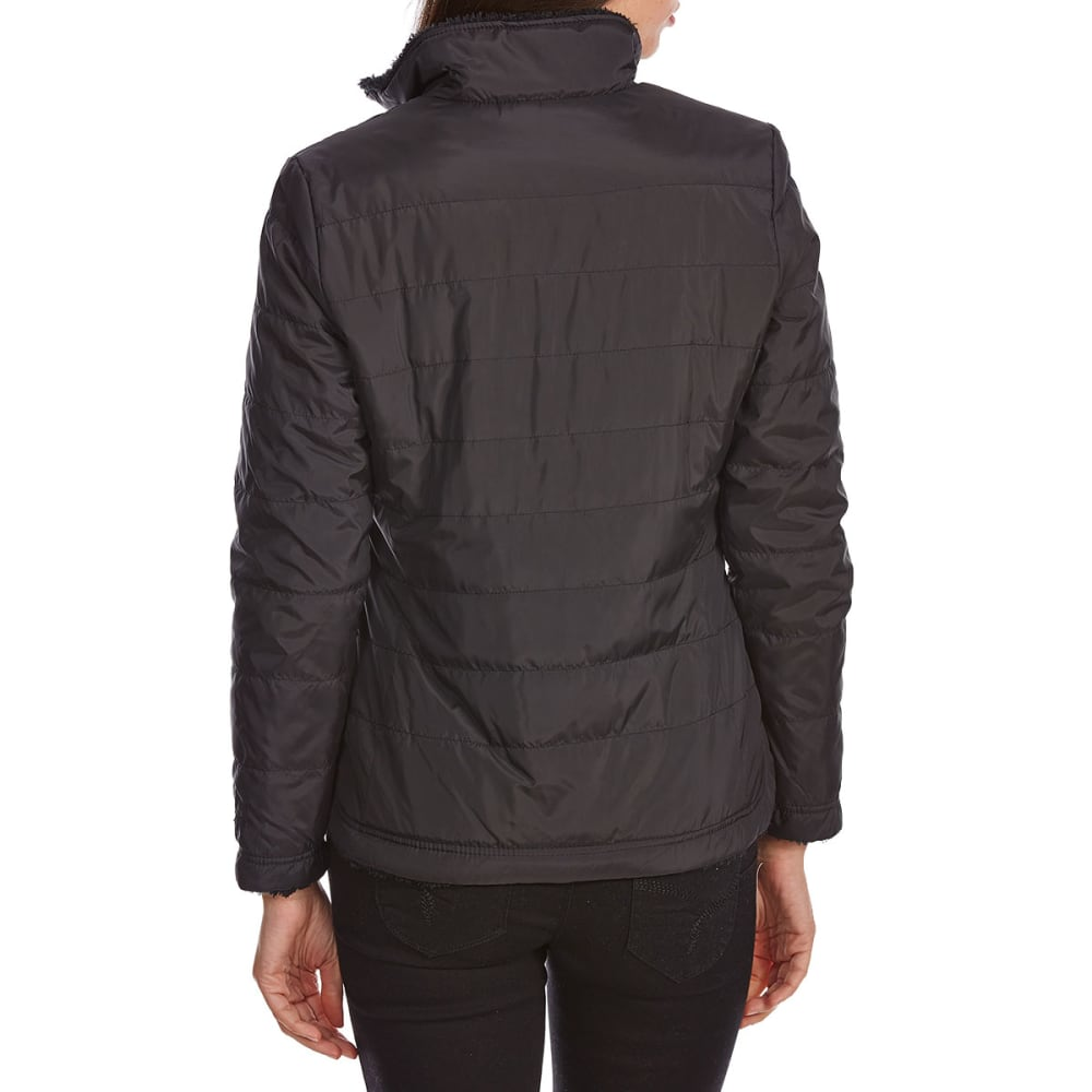 FREE COUNTRY Women's Cascade Quilted Reversible Jacket - BLACK/BLACK