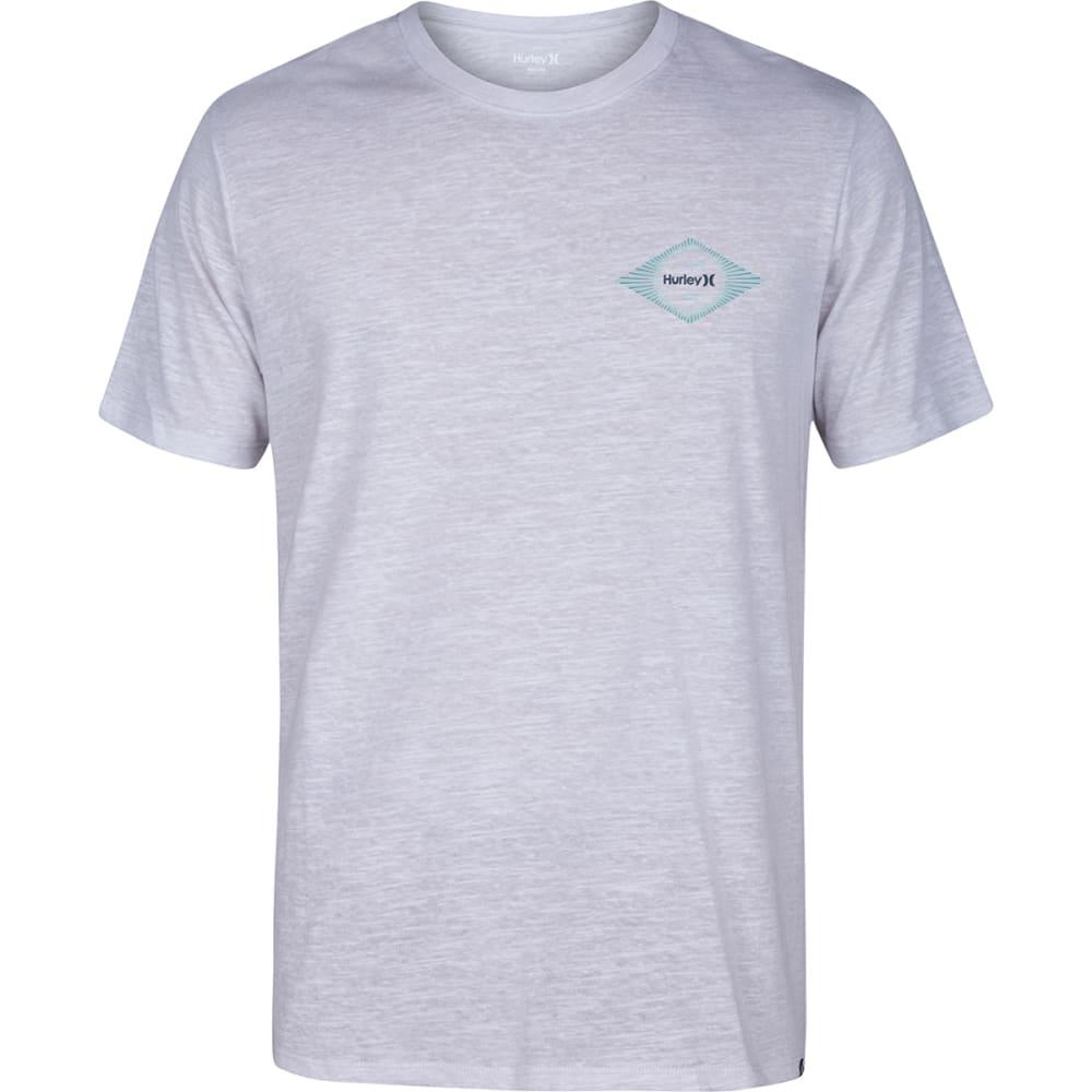 HURLEY Men's Brush Burst Tri-Blend Short-Sleeve Tee - IVORY-BONE/BIRCH-06A