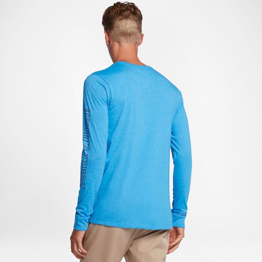 HURLEY Men's Launch Long-sleeved Shirt - LIGHT BLUE/PHOTO-4NK