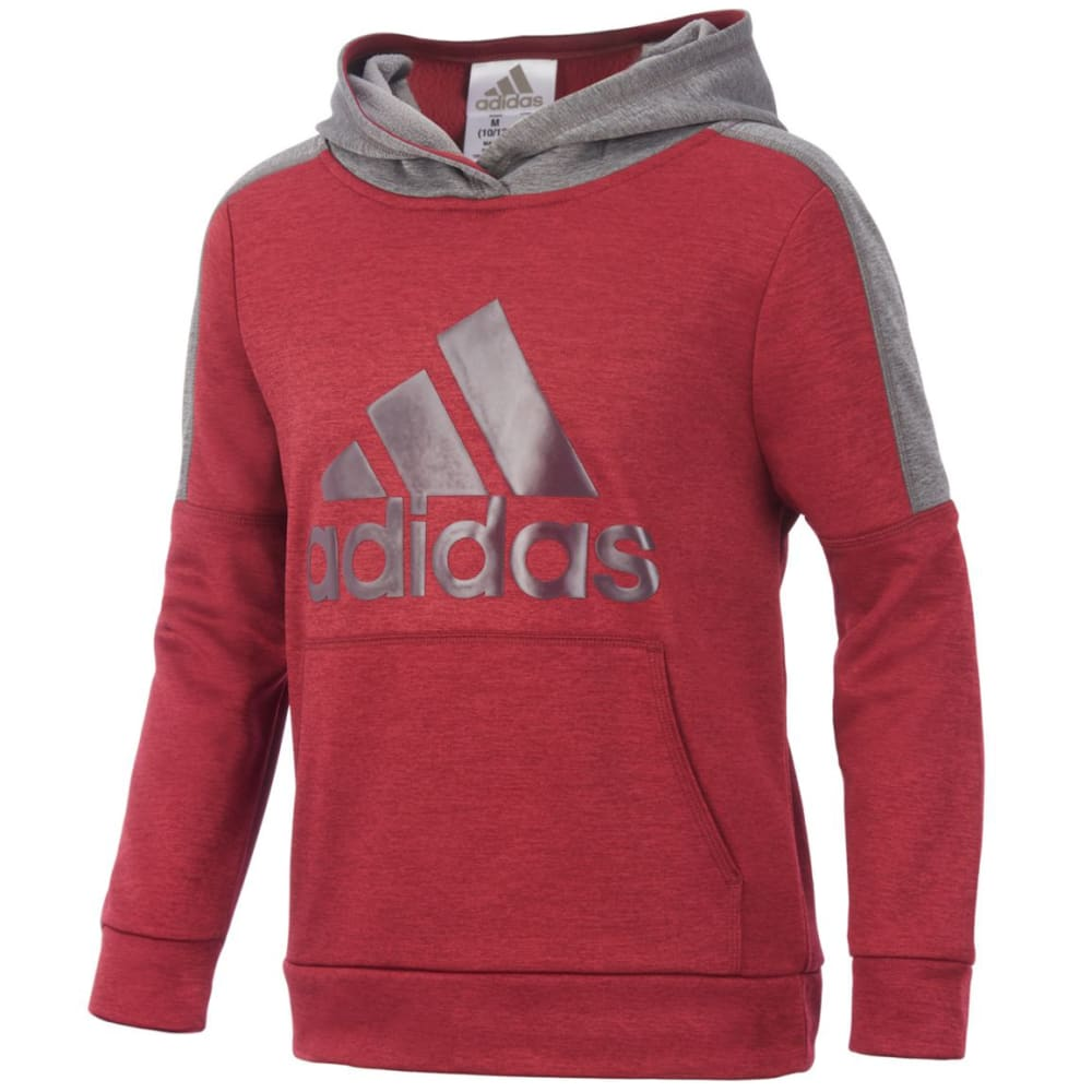 Adidas Big Boys Indicator Pullover Hoodie - Red, S