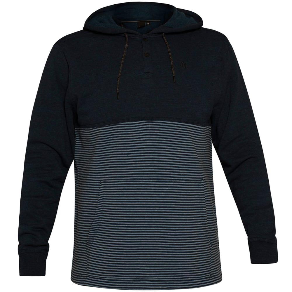 Hurley Guys' Bayside Fleece Pullover Hoodie - Blue, M