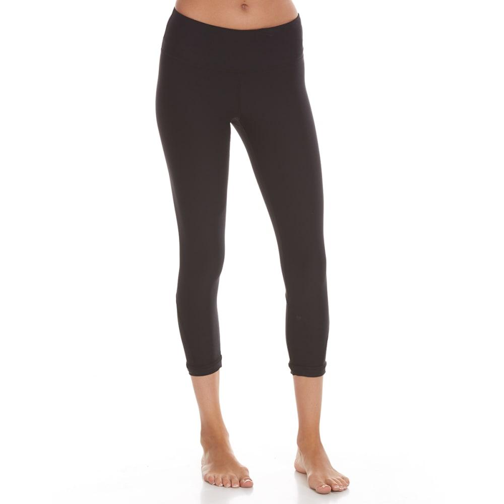 90 DEGREE BY REFLEX Women's Ankle Cutout Capri Leggings - BLACK