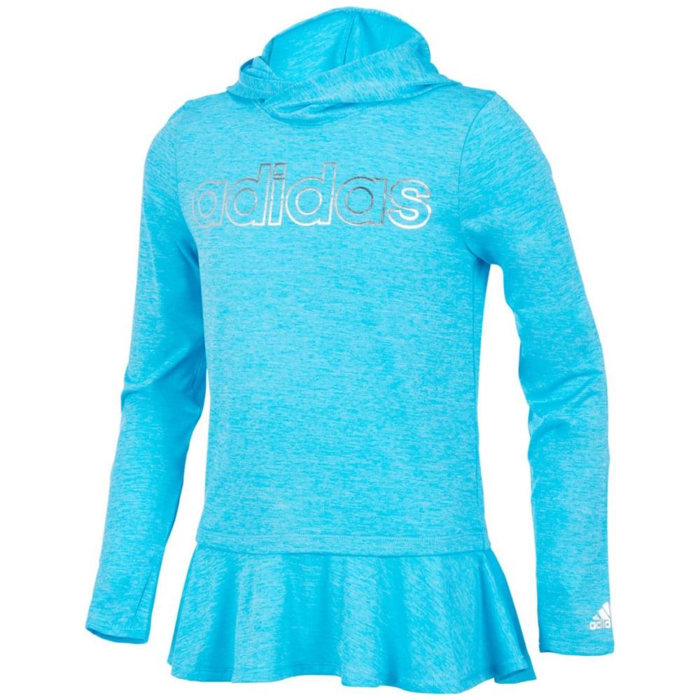 ADIDAS Big Girls' On The Go Melange Pullover Hoodie - BLUEFISH HTR-B231H