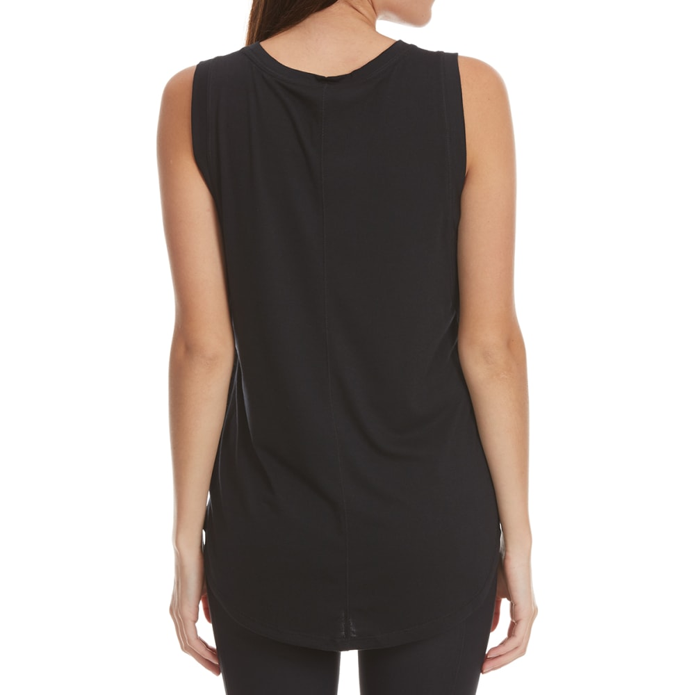 YOGALICIOUS Side Bands Tank Top - BLACK