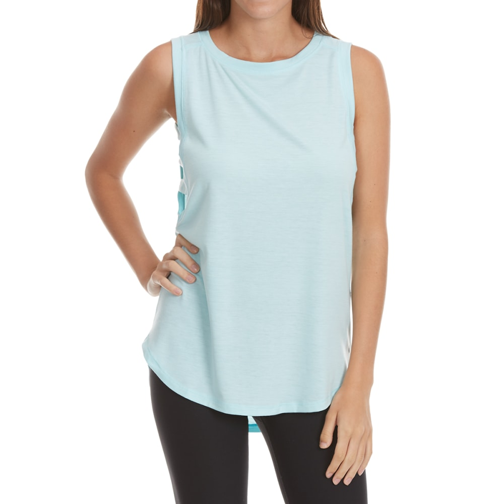 Yogalicious Side Bands Tank Top - Blue, M