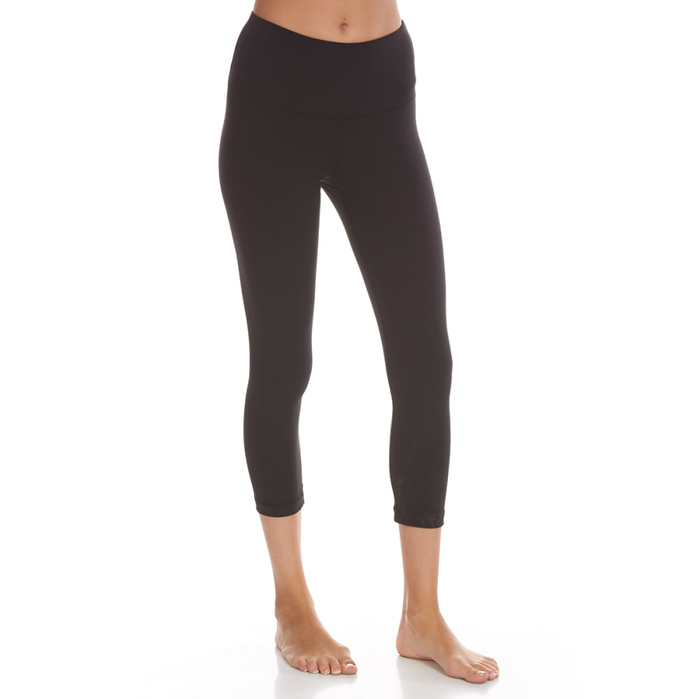 Yogalicious Women's 22 In. High-Waist Capri Leggings - Black, XS