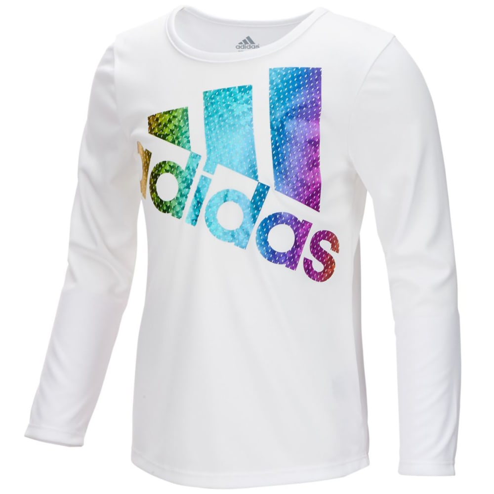 Adidas Big Girls Colors Ignite Long-Sleeve Tee - White, S