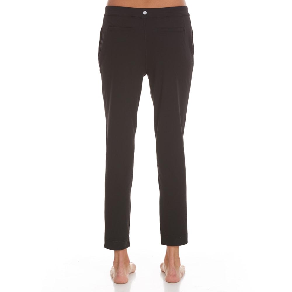 YOGALICIOUS Women's Wide-Leg Pants with Pocket - BLACK
