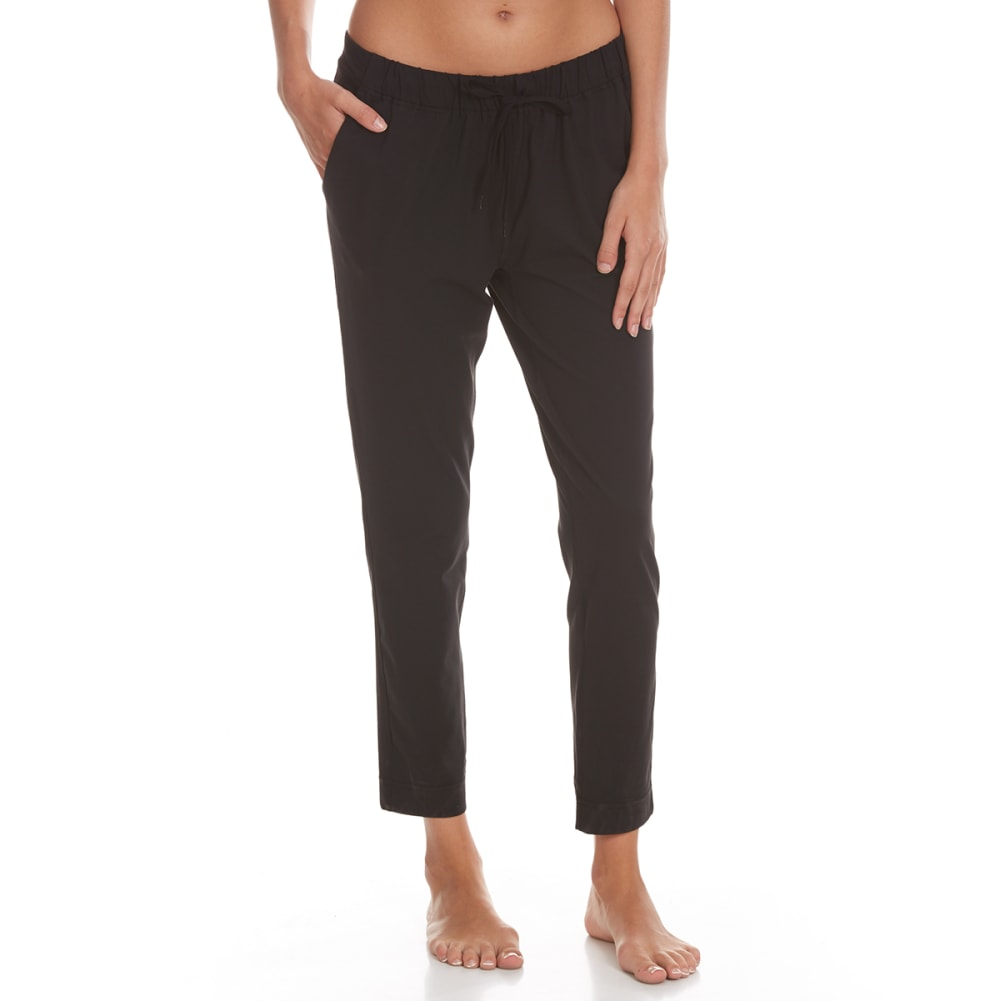YOGALICIOUS Women's Wide-Leg Pants with Pocket - BLACK