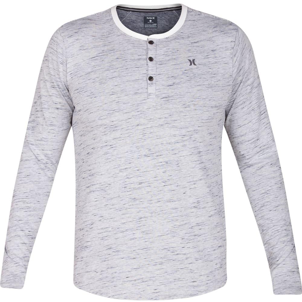 HURLEY Men's Dri-Fit San Clemente Henley Shirt - WHITE-10A