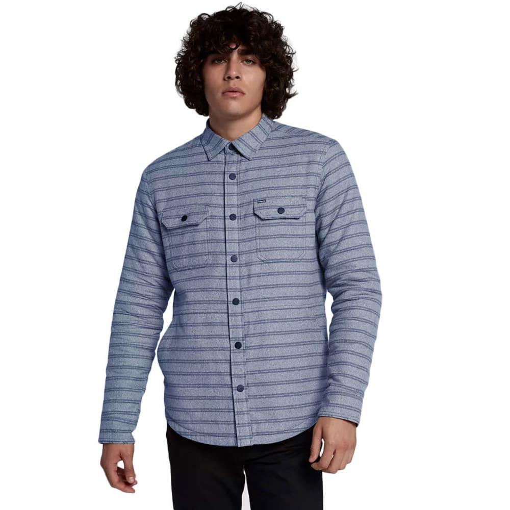 Hurley Guys' Dispatch Shacket - Blue, M