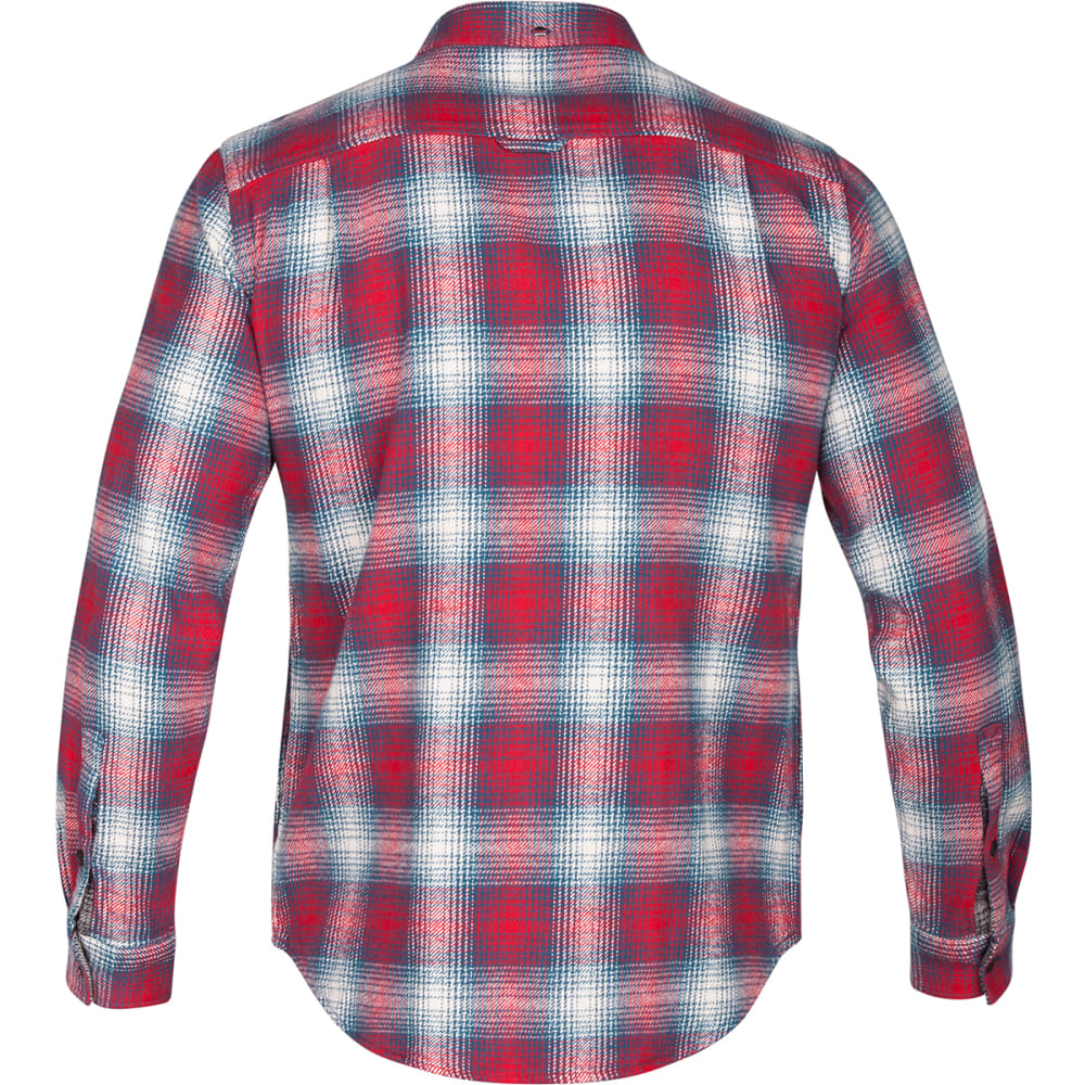 HURLEY Men's Cortez Heavy Long-Sleeve Flannel Shirt - BLUE/SPACE-4JD