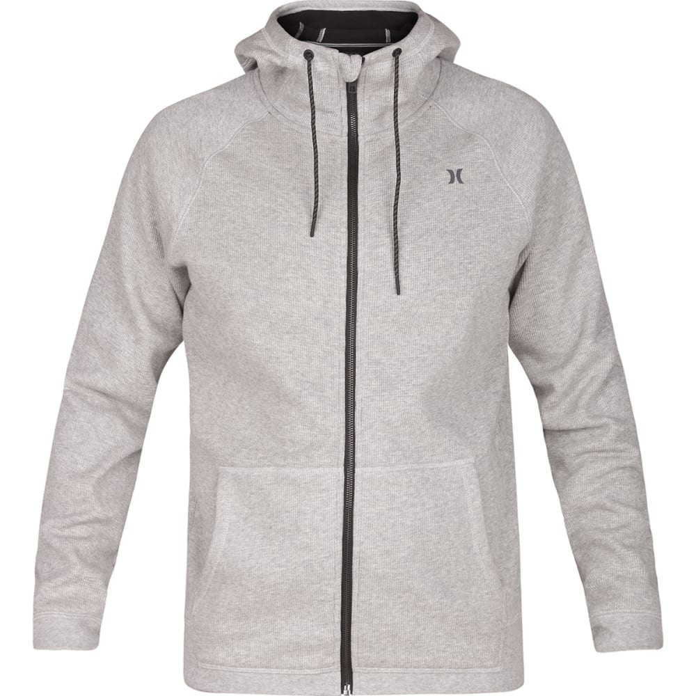 HURLEY Guys' Summit Two-Layered Fleece Full-Zip Hoodie - DRK GREY/HEATHER-06G