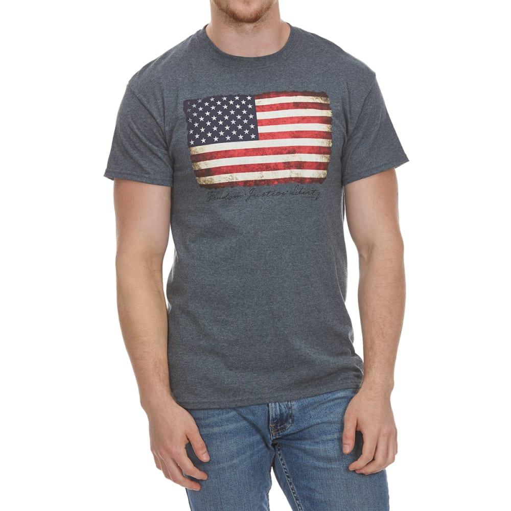 5STAR Guys' Flag Vintaged Short-Sleeve Tee - CHARCOAL HTR