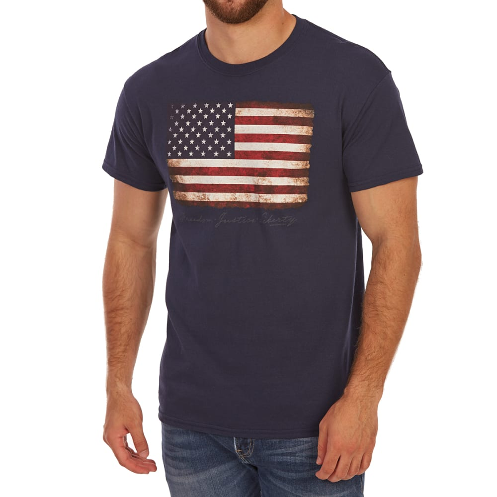 5STAR Guys' Flag Vintaged Short-Sleeve Tee - NAVY